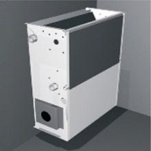 KLIMAFAN IV стенен/вертикален монтаж, долно засмукване на въздуха – за скрит монтаж