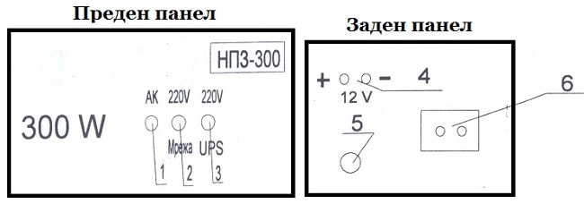 UPS инвертор НПЗ 300W