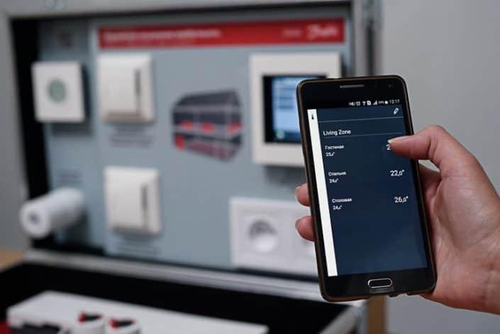 Danfoss Linc CC управлявате всички уреди от телефона или компютъра си