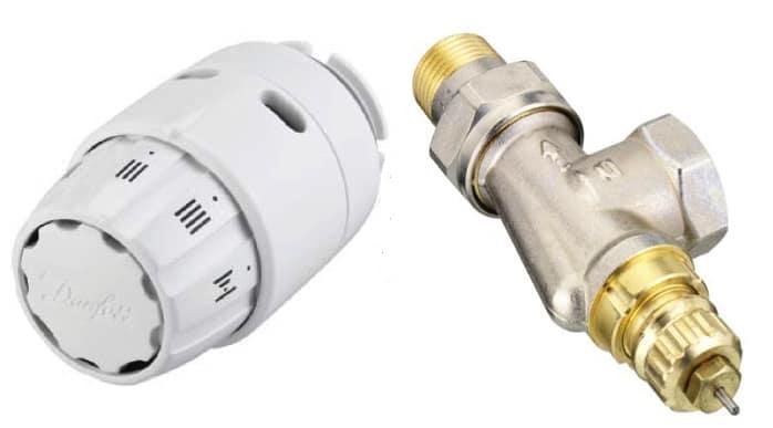 Термовентил и термоглава DANFOSS аксиален 1/2 – комплект