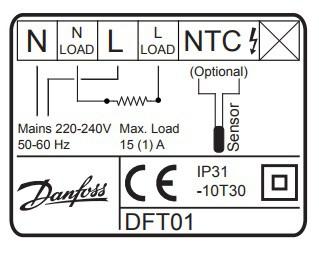 Безжичен термостат за подово отопление Danfoss Devilink FT