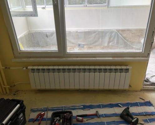 Монтаж на алуминиев радиатор -хол
