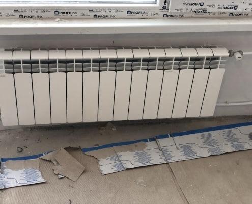 Монтаж на алуминиев радиатор - спалня