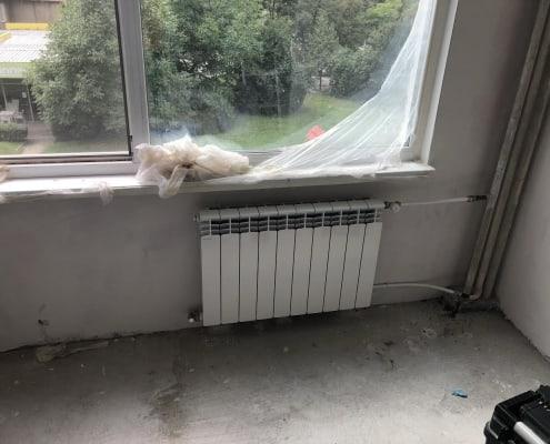 Монтаж на алуминиев радиатор - спалня 2