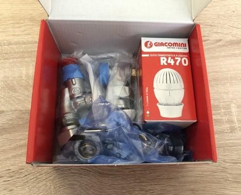 Термовентил GIACOMINI аксиален ф16 комплект