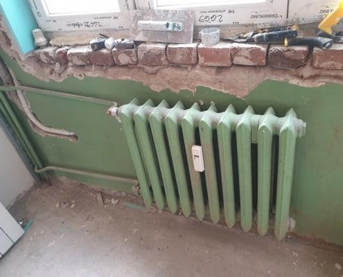 Демонтаж на чугунен радиатор