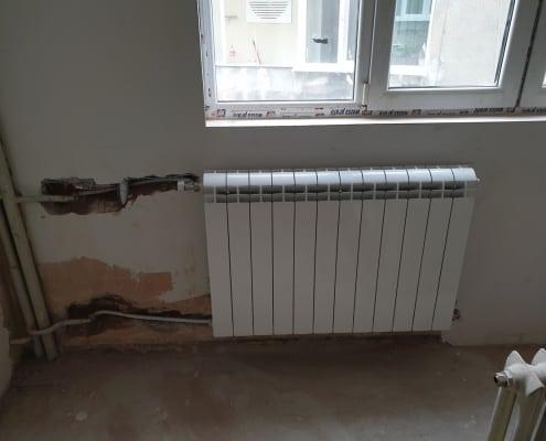 Монтаж на алуминиеви радиатори Global