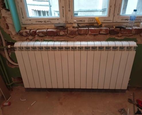 Монтаж на алуминиеви радиатори Vox