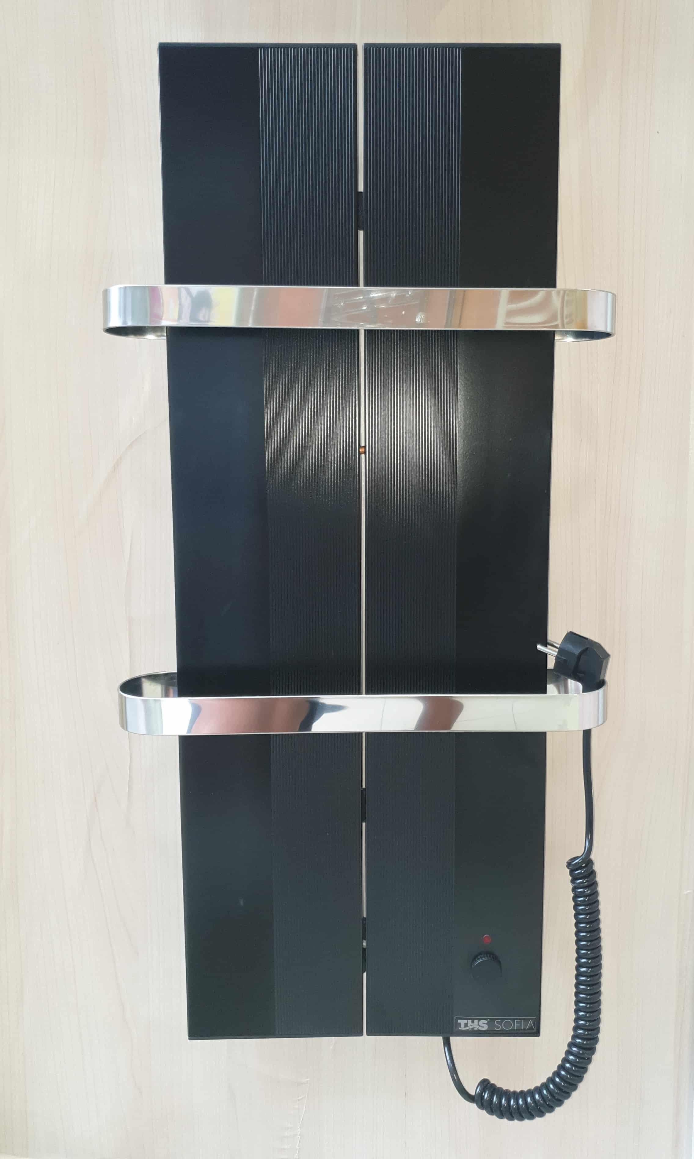 Електрическа лира за баня SOFIA черна хром