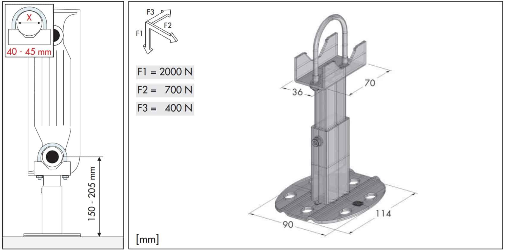 Регулируеми подови стойки Mb-Fix