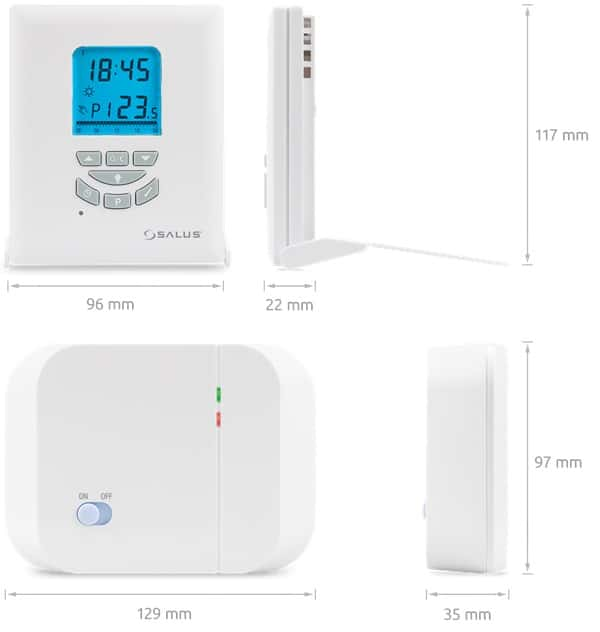 Безжичен стаен термостат Salus T105RF