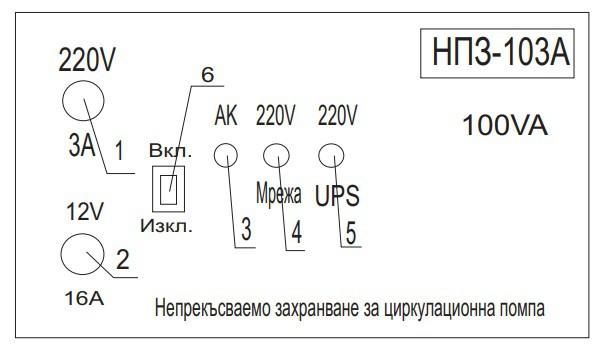 UPS инвертор НПЗ 100W подов