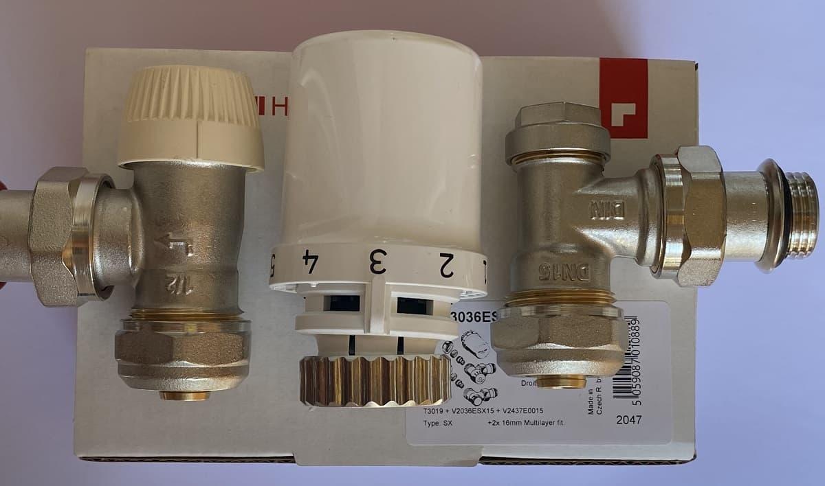 Термовентил Honeywell ъглов комплект ф16