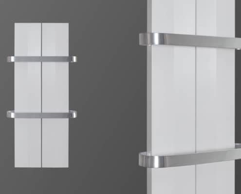 Електрическа лира за баня SOFIA бяла хром